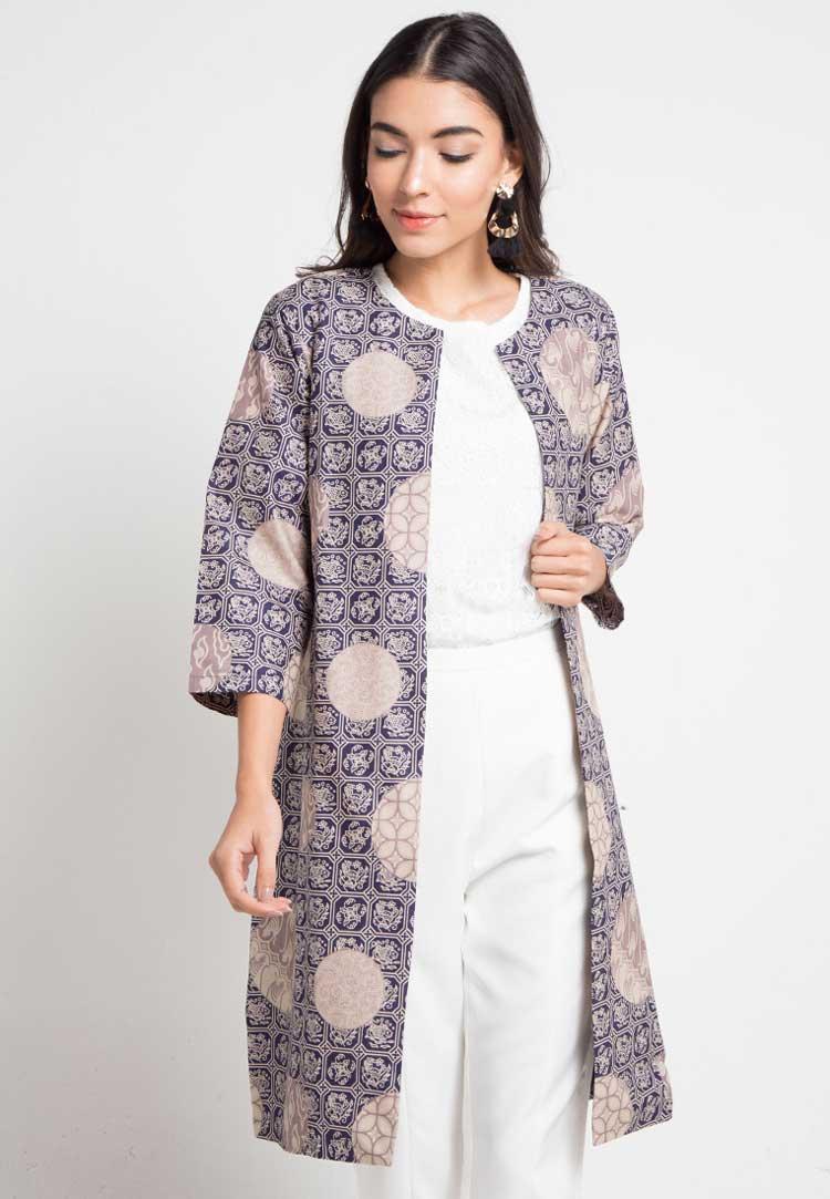 Blazer Batik Kombinasi