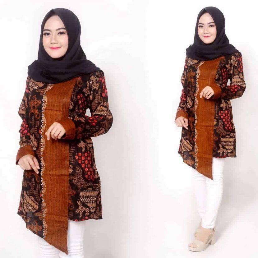Model Baju Batik Kerja Wanita Berhijab