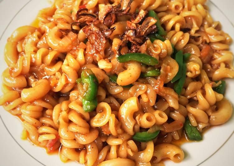 resep macaroni tumis