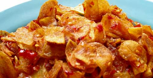 resep keripik kentang renyah