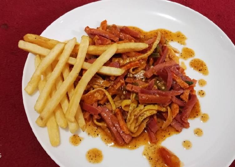 resep sosis kekinian