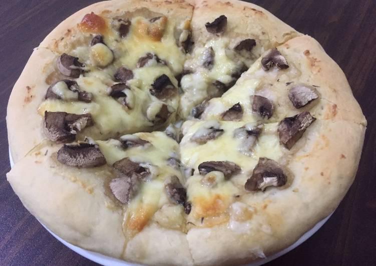 Resep roti pizza mushroom